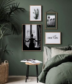 Natural Green Bedroom Design Ideas 14