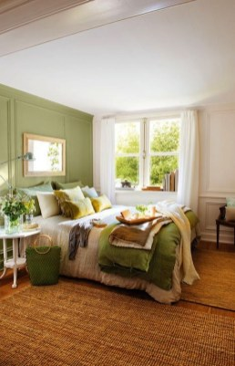 Natural Green Bedroom Design Ideas 23
