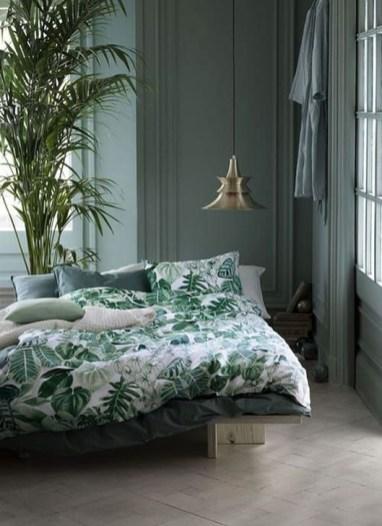 Natural Green Bedroom Design Ideas 42