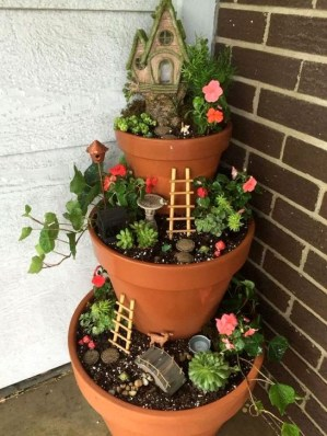Pretty Fairy Garden Plants Ideas For Around Your Side Home 46