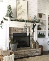 Rustic Farmhouse Fireplace Ideas For Your Living Room 21