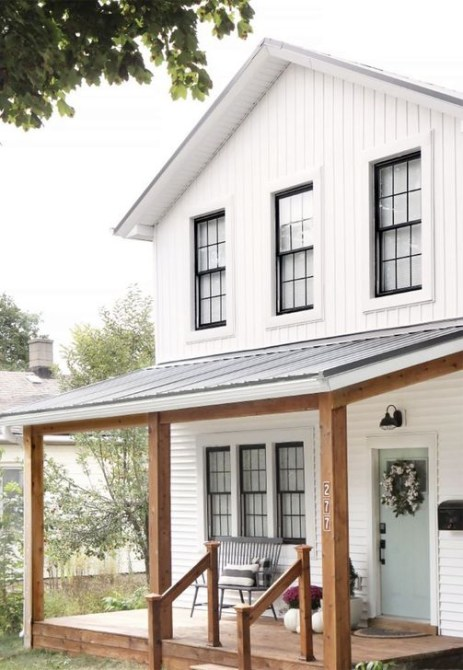 Awesome Farmhouse Home Exterior Design Ideas 14