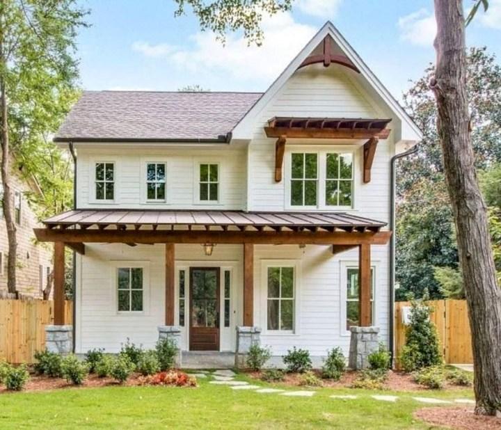 Awesome Farmhouse Home Exterior Design Ideas 26