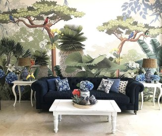 Best Ideas Of Tropical Wall Mural For Summer 09