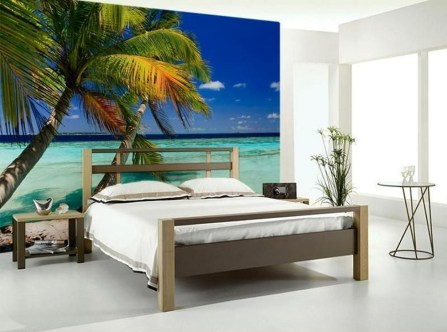 Best Ideas Of Tropical Wall Mural For Summer 56