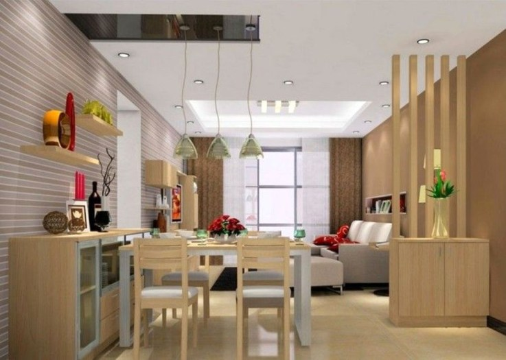 Cool Partition Living Room Ideas 27