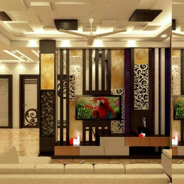 Cool Partition Living Room Ideas 45