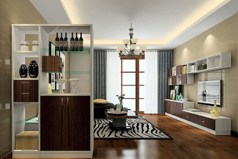 Cool Partition Living Room Ideas 46