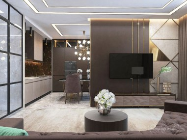 Cool Partition Living Room Ideas 49