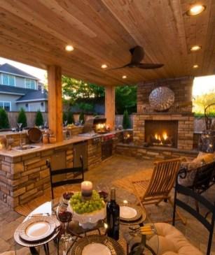 Cozy Outdoor Kitchen Design Ideas 18