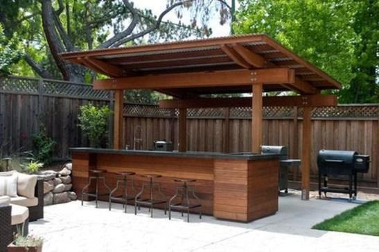 Cozy Outdoor Kitchen Design Ideas 19