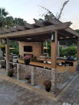 Cozy Outdoor Kitchen Design Ideas 20