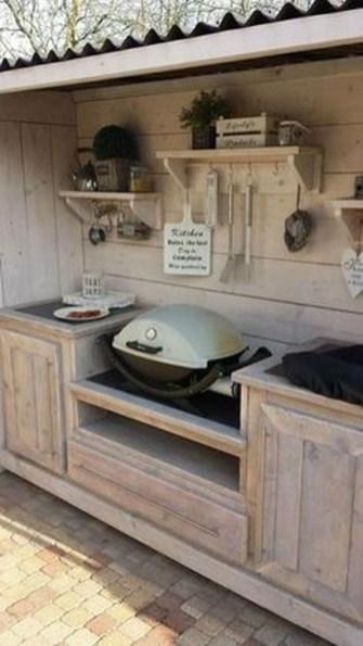 Cozy Outdoor Kitchen Design Ideas 27
