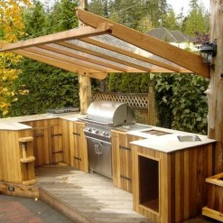 Cozy Outdoor Kitchen Design Ideas 28