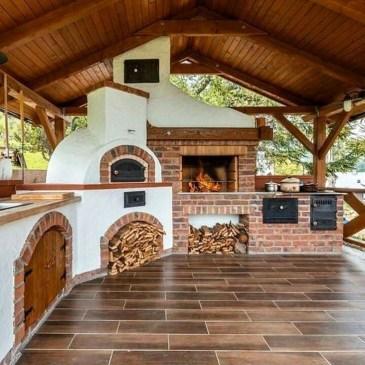 Cozy Outdoor Kitchen Design Ideas 36