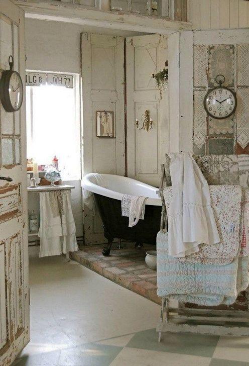 Cute Shabby Chic Bathroom Design Ideas 11