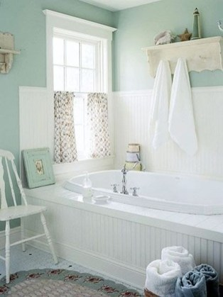 Cute Shabby Chic Bathroom Design Ideas 25