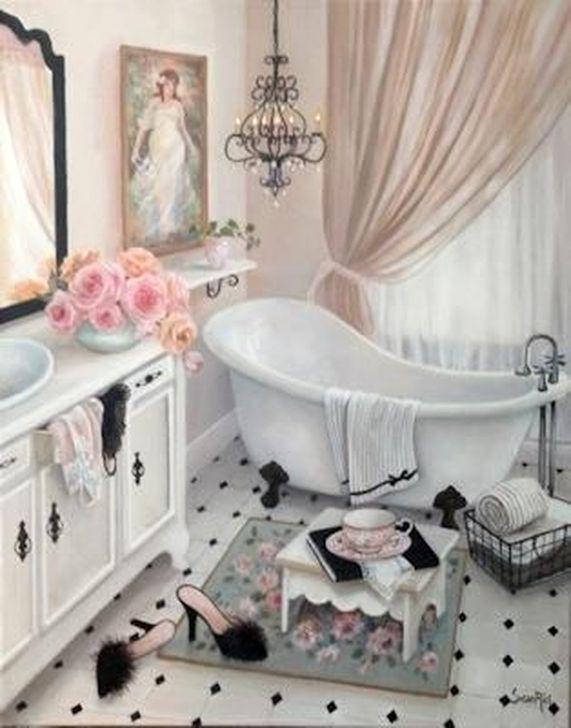 Cute Shabby Chic Bathroom Design Ideas 30
