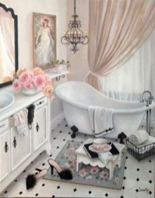 Cute Shabby Chic Bathroom Design Ideas 30