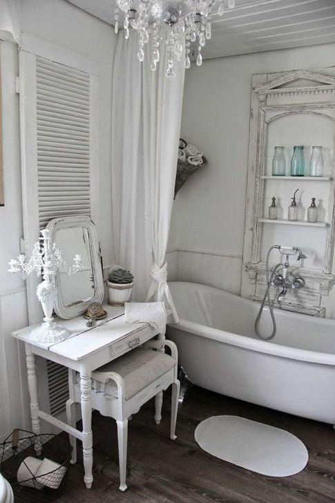 Cute Shabby Chic Bathroom Design Ideas 35