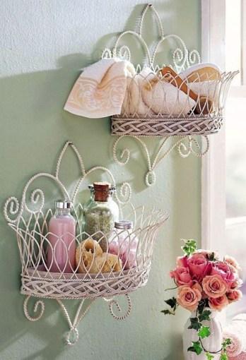 Cute Shabby Chic Bathroom Design Ideas 37