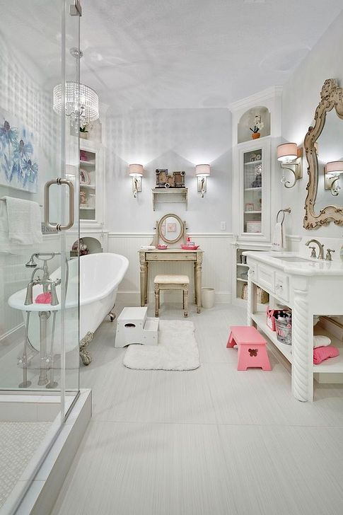 Cute Shabby Chic Bathroom Design Ideas 40