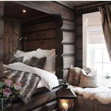 Genius Rustic Scandinavian Bedroom Design Ideas 06