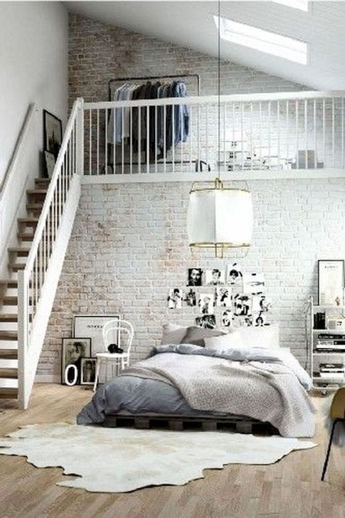 Genius Rustic Scandinavian Bedroom Design Ideas 33