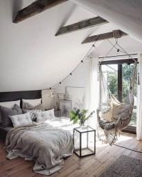 Genius Rustic Scandinavian Bedroom Design Ideas 36