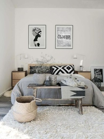 Genius Rustic Scandinavian Bedroom Design Ideas 45
