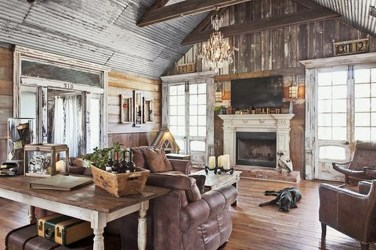 Gorgeous Farmhouse Design Ideas For Living Room 12