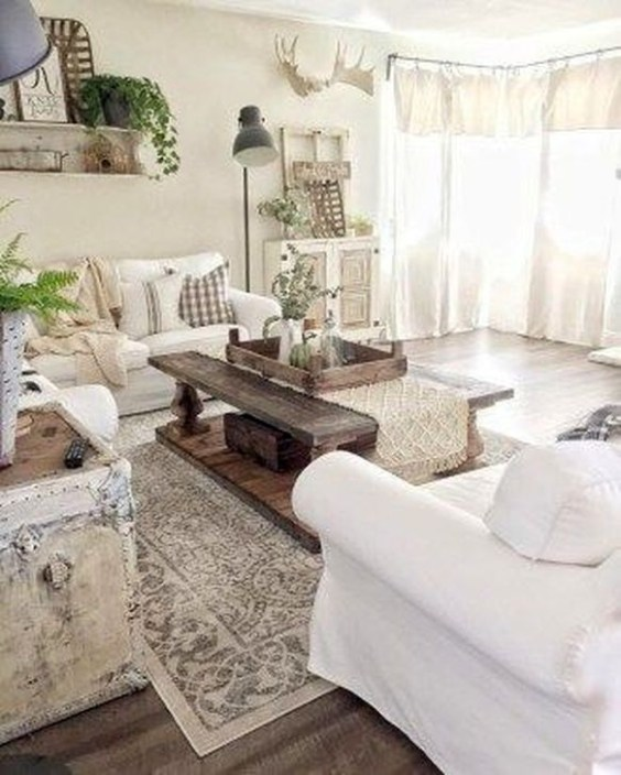 Gorgeous Farmhouse Design Ideas For Living Room 45