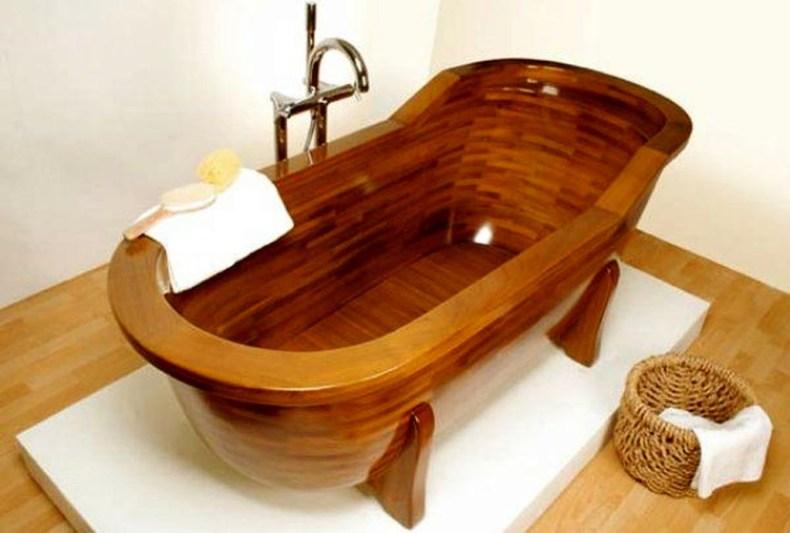 Marvelous Wooden Bathtub Design Ideas To Get Relax 01