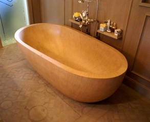 Marvelous Wooden Bathtub Design Ideas To Get Relax 11