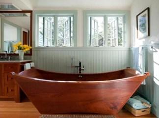Marvelous Wooden Bathtub Design Ideas To Get Relax 13