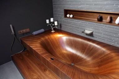 Marvelous Wooden Bathtub Design Ideas To Get Relax 17