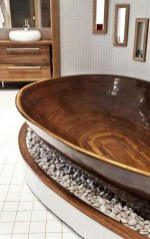 Marvelous Wooden Bathtub Design Ideas To Get Relax 23