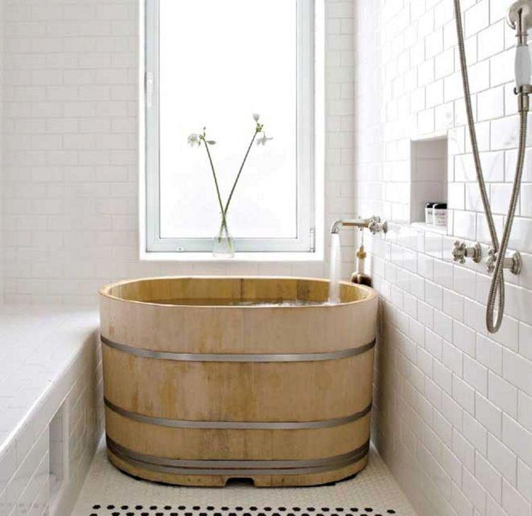 Marvelous Wooden Bathtub Design Ideas To Get Relax 24
