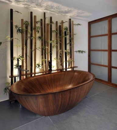 Marvelous Wooden Bathtub Design Ideas To Get Relax 26
