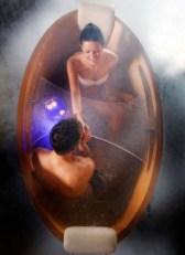 Marvelous Wooden Bathtub Design Ideas To Get Relax 28
