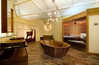 Marvelous Wooden Bathtub Design Ideas To Get Relax 41