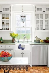 Minimalist Small White Kitchen Design Ideas 25