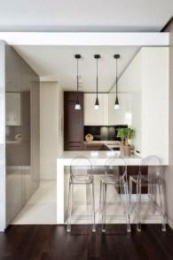 Minimalist Small White Kitchen Design Ideas 39