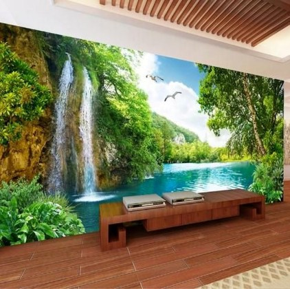 Perfect 3D Wallpapaer Design Ideas For Living Room 18
