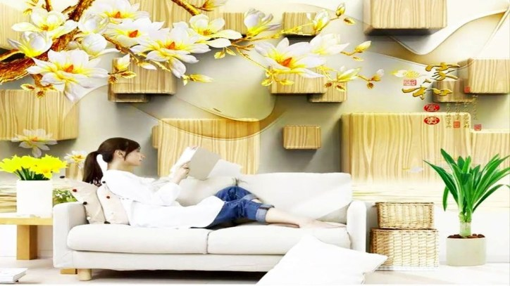 Perfect 3D Wallpapaer Design Ideas For Living Room 22