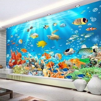 Perfect 3D Wallpapaer Design Ideas For Living Room 36
