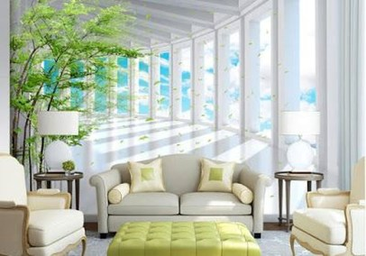 Perfect 3D Wallpapaer Design Ideas For Living Room 44
