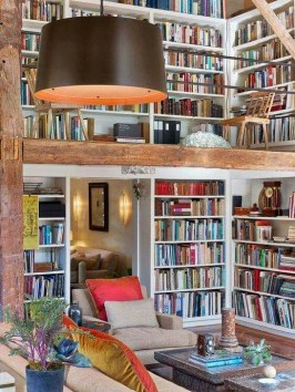 Wonderful Home Library Design Ideas To Make Your Home Look Fantastic 06