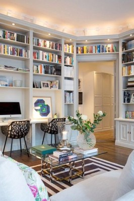 Wonderful Home Library Design Ideas To Make Your Home Look Fantastic 18