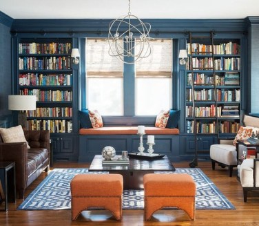 Wonderful Home Library Design Ideas To Make Your Home Look Fantastic 24